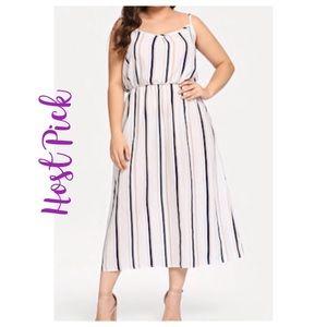 Dresses & Skirts - ➕Sleeveless Striped Maxi Dress